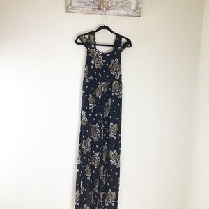 Free people wide leg floral jumpsuit Sz 2